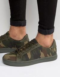 Камуфляжные кроссовки цвета хаки ASOS - Хаки
