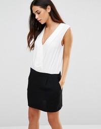 Черно-белое платье в стиле колор блок See U Soon