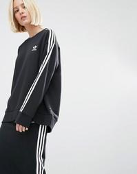 Свитшот с тремя полосками adidas Originals - Черный