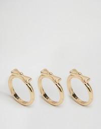 Наборные кольца с бантом ASOS - Смешанные металлы