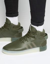 Зеленые кроссовки adidas Originals Tubular Invader S81795 - Зеленый
