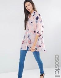 Oversize-блузка с цветочным принтом ASOS TALL - Мульти