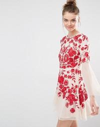 Приталенное платье с вышивкой Frock and Frill