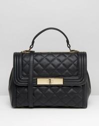 Стеганая сумка‑тоут с ручкой сверху ALDO - Черный