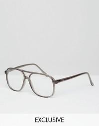 Очки с прозрачными стеклами Reclaimed Vintage - Прозрачный