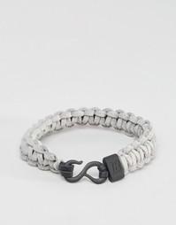 Серый плетеный браслет Icon Brand - Серый
