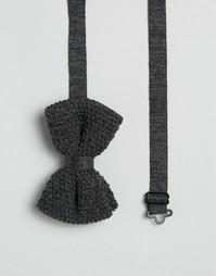 Галстук-бабочка из серого меланжевого трикотажа ASOS - Серый