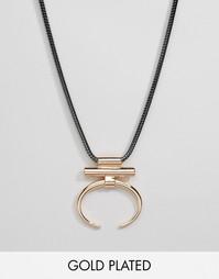 Ожерелье с геометрической подвеской Pilgrim - Розовое золото