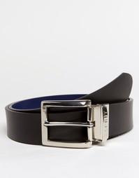 Двусторонний кожаный ремень Esprit - Черный