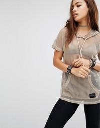 Сетчатая футболка с капюшоном Criminal Damage - Телесный