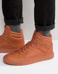 Высокие оранжевые кроссовки ASOS - Оранжевый