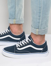 Vans Old Skool Canvas Trainers In Blue V004OJJPV - Синий
