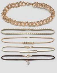 Многоярусные ожерелья-чокер DesignB London Luxe - Мульти