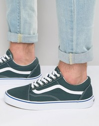 Vans Old Skool Canvas Trainers In Green V004OJJPT - Зеленый