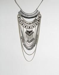 Эффектное ожерелье ALDO Galeladia - Серебряный