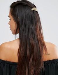 Заколка для волос с листиком ALDO Posmon - Золотой