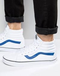 Белые парусиновые кроссовки Vans Sk8-Hi V004OKJUM - Белый