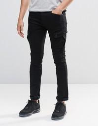 Черные зауженные джинсы-карго Loyalty & Faith - Черный