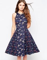 Платье с А-образным силуэтом и цветочным принтом Closet