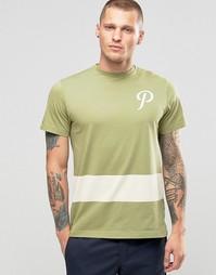 Футболка с логотипом и полоской Playground Team P - Зеленый
