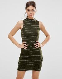 Платье в полоску Daisy Street - Хаки