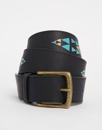 Черный ремень с вышивкой Glamorous - Черный