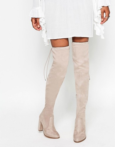 Ботфорты на каблуке ASOS KINGDOM - Серо-коричневый