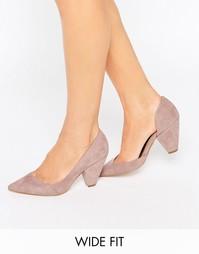 Tуфли для широкой стопы на каблуке ASOS SAPPHIRE - Mink