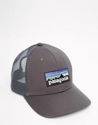 Кепка-бейсболка с логотипом Patagonia P6 - Серый