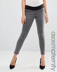 Серые джинсы для беременных ASOS Maternity Ridley - Серый