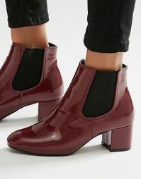 Бордовые лакированные ботинки челси Daisy Street