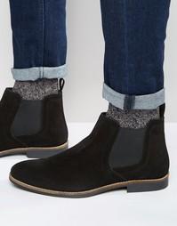 Черные замшевые ботинки челси Red Tape - Черный