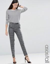 Фактурные узкие брюки с ремнем ASOS TALL - Мульти