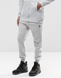 Джоггеры с манжетами adidas Originals Street Modern AY9205 - Серый