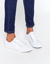 Белые кожаные кроссовки Fred Perry Kingston