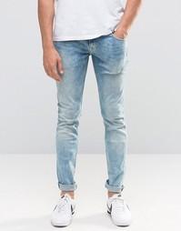 Выбеленные джинсы скинни Pepe Finsbury D31 - Выбеленный