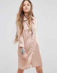 Свободное платье‑рубашка с изящной вышивкой сзади Young Bohemians
