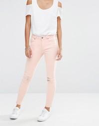 Vero Moda Busted Knee Skinny Jeans - Кремовый загар