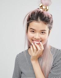 Заколка для волос с бантом Monki - Золотой