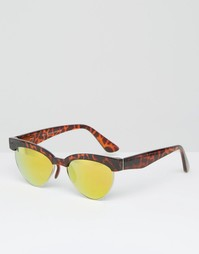 Солнцезащитные очки в черепаховой полуоправе 7X