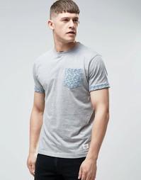 Футболка с принтом на кармане Bellfield - Серый