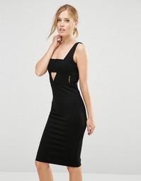 Платье миди с вырезами Forever Unique Toya - Черный