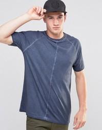 Длинная серая футболка ASOS - Синяя тень