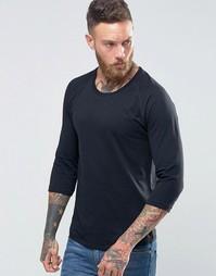 Черная футболка с рукавами 3/4 Nudie Jeans - Черный