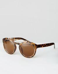 Круглые солнцезащитные очки с металлической отделкой ASOS