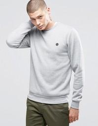 Серый свитшот с круглым вырезом и логотипом Element - Серый