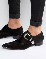 Туфли на каблуке с пряжкой Jeffery West Adam Ant - Черный