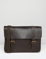 Изготовленный в Англии кожаный портфель ASOS - Коричневый
