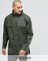 Водонепроницаемая куртка с 4 карманами Rains - Зеленый