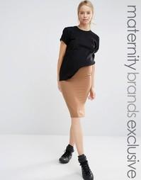 Юбка миди в стиле casual для беременных Club L - Бежевый